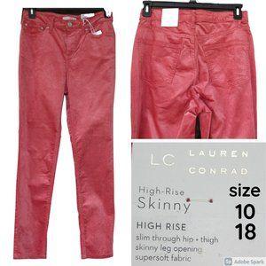 NWT velvet like High rise skinny LC Lauren Conrad